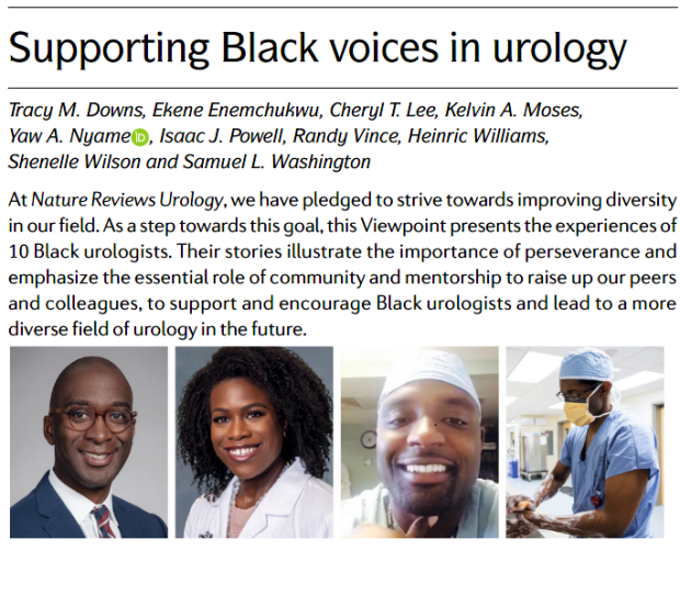 Supporting black voices in urology